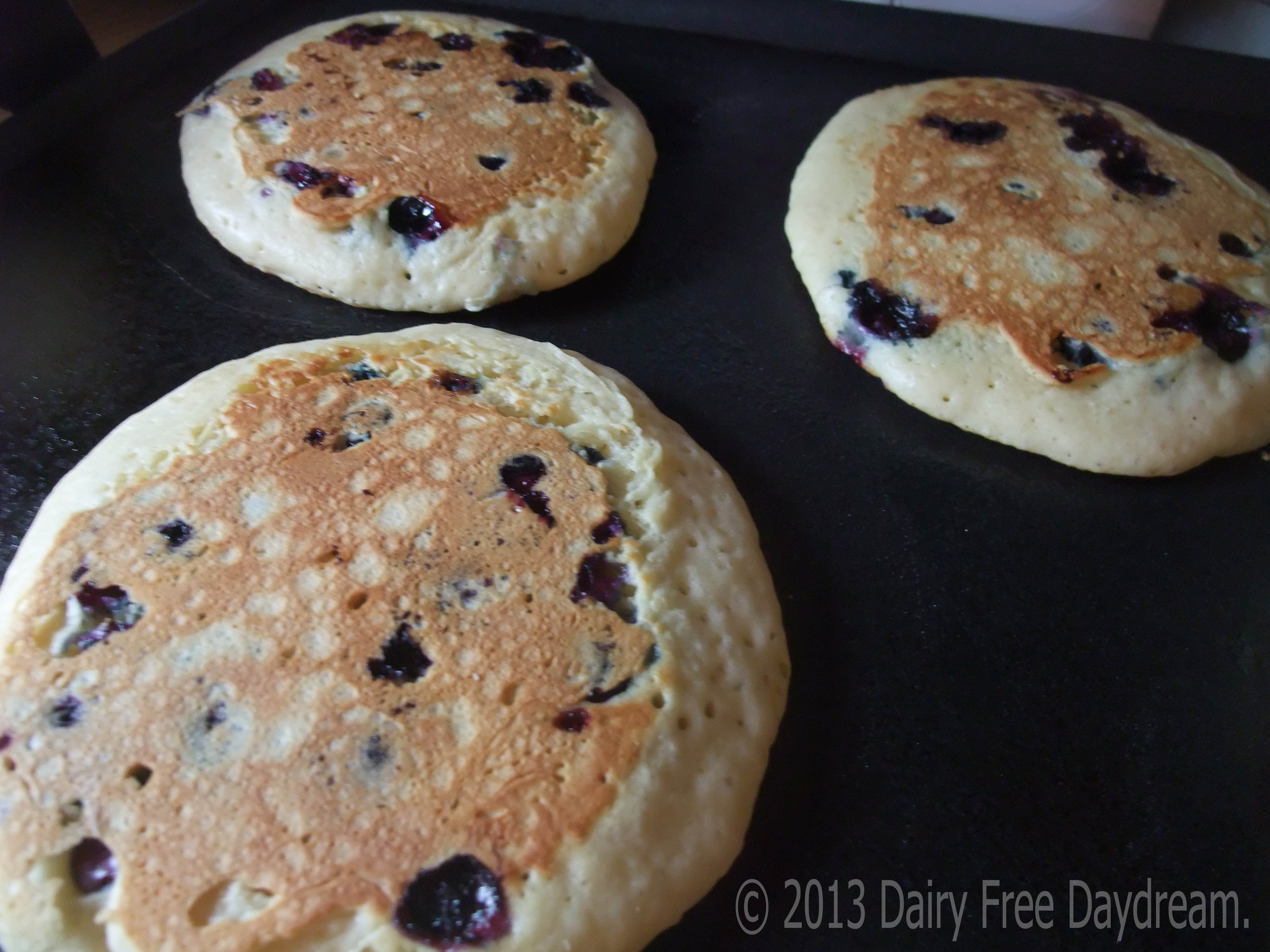 Buttermilkless Blueberry Pancakes Dairy Free Daydream